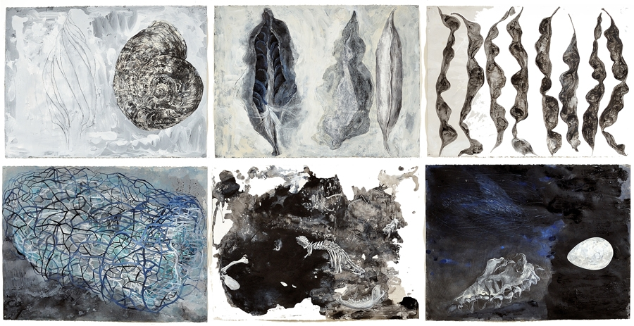 Group of 6 drawings, Some of the Sum